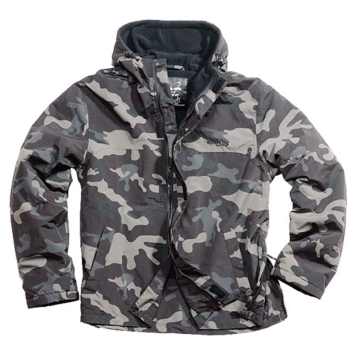 Kurtka Kangurka Windbreaker ZIPPER - nightcamo